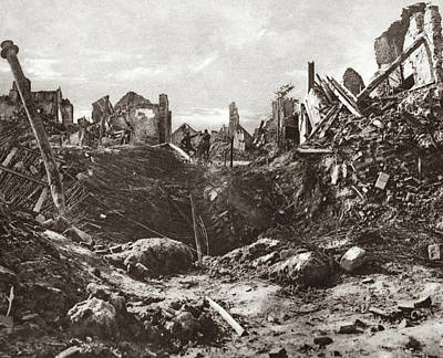 World War I Mine Crater Art Print by Granger