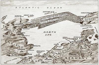 North Sea Drawing - World War I North Sea by Granger