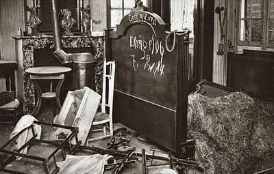 World War I Room Pillaged Art Print by Granger