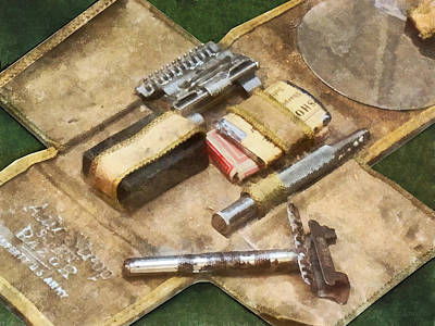 Photograph - World War I Shaving Kit by Susan Savad