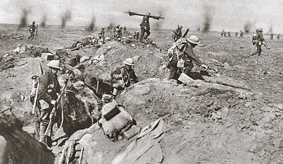 Somme Photograph - World War I Somme by Granger