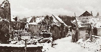 Photograph - World War I Vaux, 1918 by Granger