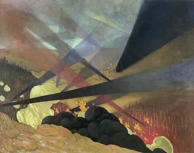 Verdun Art Painting - World War I Verdun, 1916 by Granger