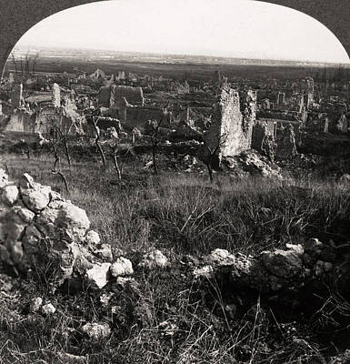 Photograph - World War I Village by Granger