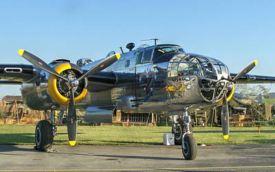 World War II B-25 Bomber Yankee Warrior Art Print by Angelo Rolt