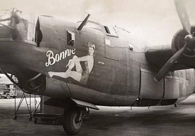 Pin Up Nose Art Photograph - World War II B24 Bomber by Granger