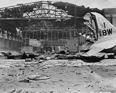 Hickam Photograph - World War II Hickam Field by Granger