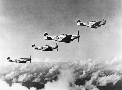P51 Mustang Photograph - World War II: Mustangs by Granger