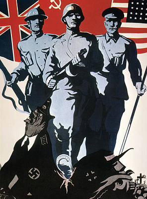 Photograph - World War II: Soviet Poster by Granger