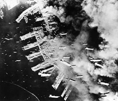 World War II: U.s. Air Raid Art Print