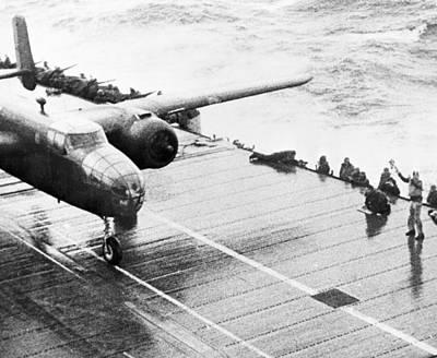 B25 Photograph - World War II: Uss Hornet by Granger