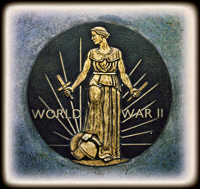 Photograph - World War II Victory Medal by Lee Dos Santos