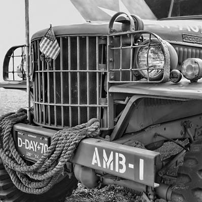 Photograph - World War Two Ambulance - Photography by Ann Powell