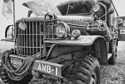 Photograph - World War Two Army Ambulance by Ann Powell