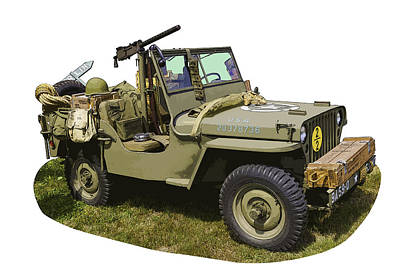 All Wheel Drive Photograph - World War Two - Willys - Army Jeep  by Keith Webber Jr