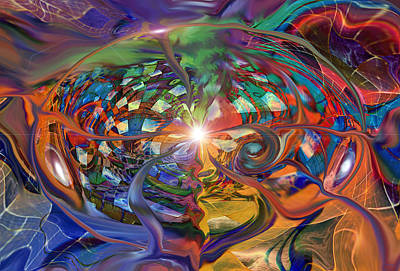 World Within A World Art Print by Linda Sannuti