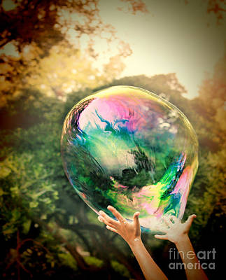 World Within Art Print by Jasna Buncic