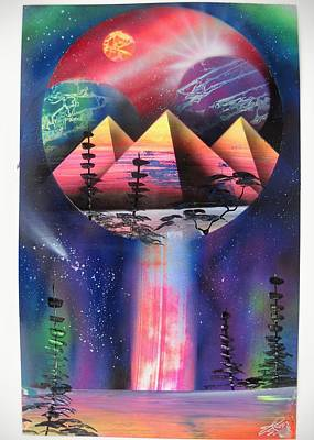 Spray Can Painting - World Within Worlds by Norman Seagrave