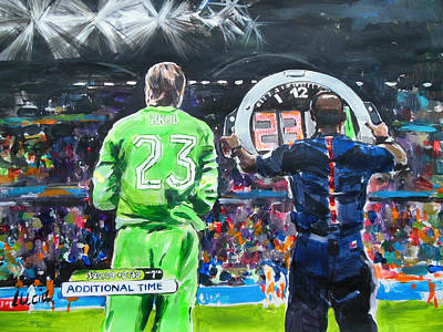 Worldcup 2014 - The Moment Print by Lucia Hoogervorst