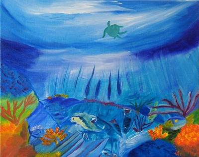 Worlds Below The Sea Art Print
