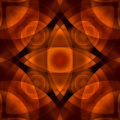 Earth Tones Digital Art - Worlds Collide 15 by Mike McGlothlen