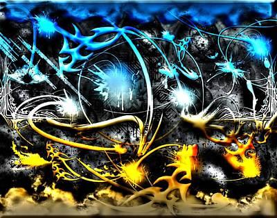 Digital Art - Worlds Collide by Michael Damiani