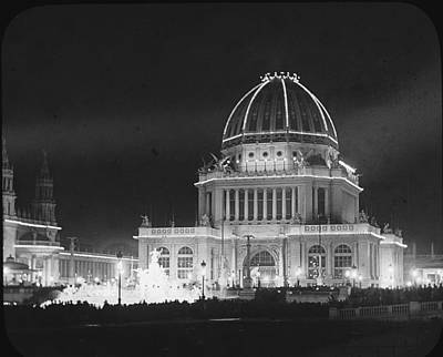 Photograph - Worlds Columbian Exposition Administration Building Chicago 1893 by Historic Photos