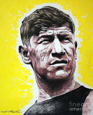 Painting - Worlds Greatest Athlete by Chris Mackie