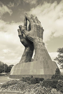 Worlds Largest Praying Hands Sculpture Print by Panoramic Images