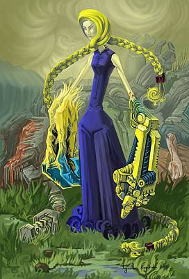 Monster Digital Art - World's Strongest by Augustinas Raginskis