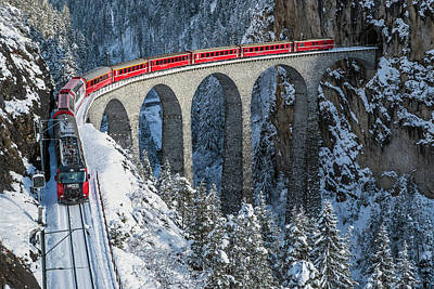 Switzerland Photograph - World's Top Train - Bernina Express by Roberto Sysa Moiola
