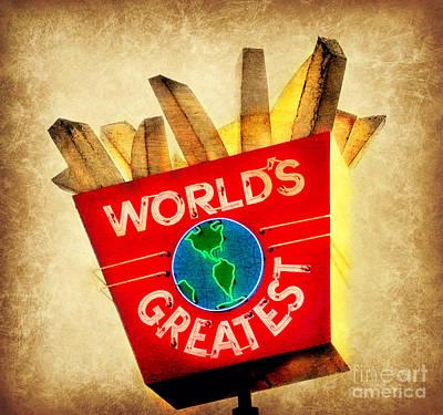 World's Greatest Fries Art Print