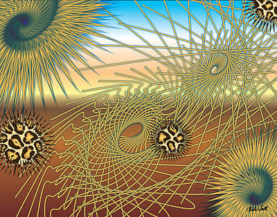 Beat It Digital Art - Worm Hole by Charles Smith