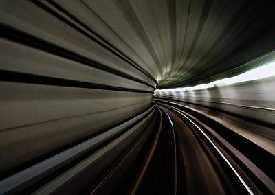 Train Tracks Wall Art - Photograph - Worm Hole by Sebastian-alexander Stamatis