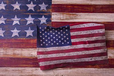 Worn American Flag Art Print by Garry Gay