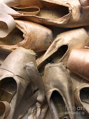 Pointe Shoes Photograph - Worn Ballet Shoes by Diane Diederich