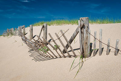 Worn Beach Fence Art Print
