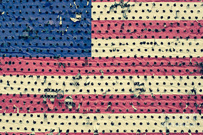 Photograph - Worn Out American Flag by Jim Corwin