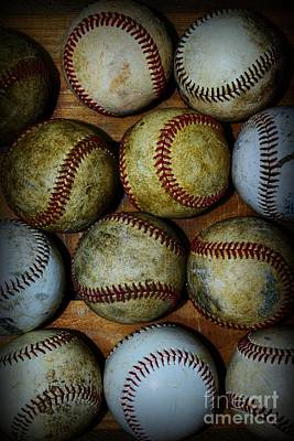 Minor League Photograph - Worn Out Baseballs by Paul Ward