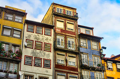 Target Threshold Nature - Worn out houses Porto Portugal by Frank Bach