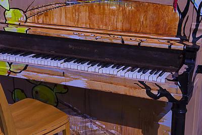 Keyboards Photograph - Worn Sidewalk Piano by Garry Gay