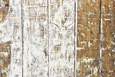 Panel Photograph - Worn Wood  by Tom Gowanlock