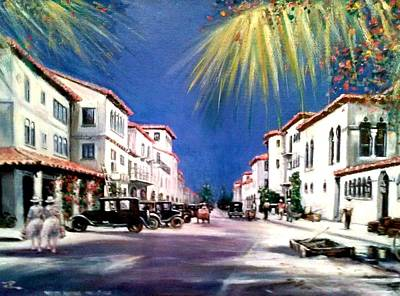 Painting - Worth Ave 1925 by Philip Corley