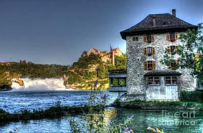 Photograph - Worth Castle Rheinfall  by Ines Bolasini