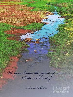 Digital Art - Worth Of Water by Barbara Oertli