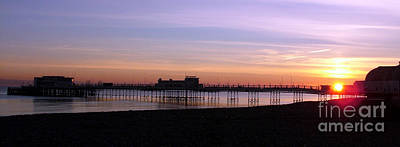 Worthing Pier Sunset Art Print by Mark Bowden