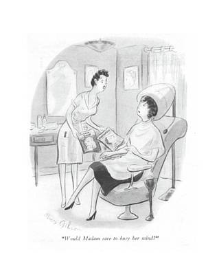 Would Madam Care To Busy Her Mind? Art Print by Mary Gibson