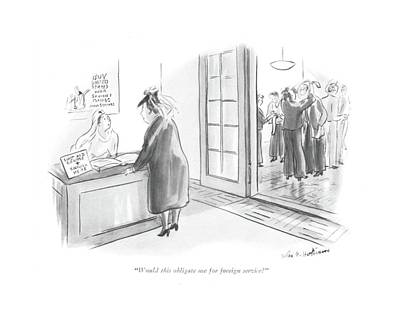 Charity Drawing - Would This Obligate Me For Foreign Service? by Helen E. Hokinson