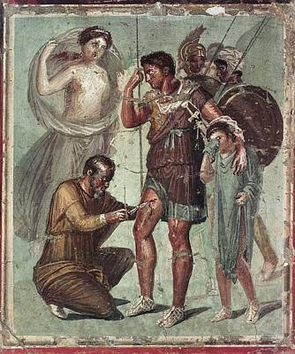 Wounded Aeneas. 2nd Half 1st C Art Print by Everett