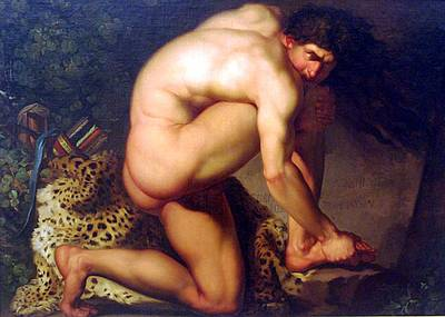 Painting - Wounded Philoctetes by Nikolaj Abraham Abildgaard